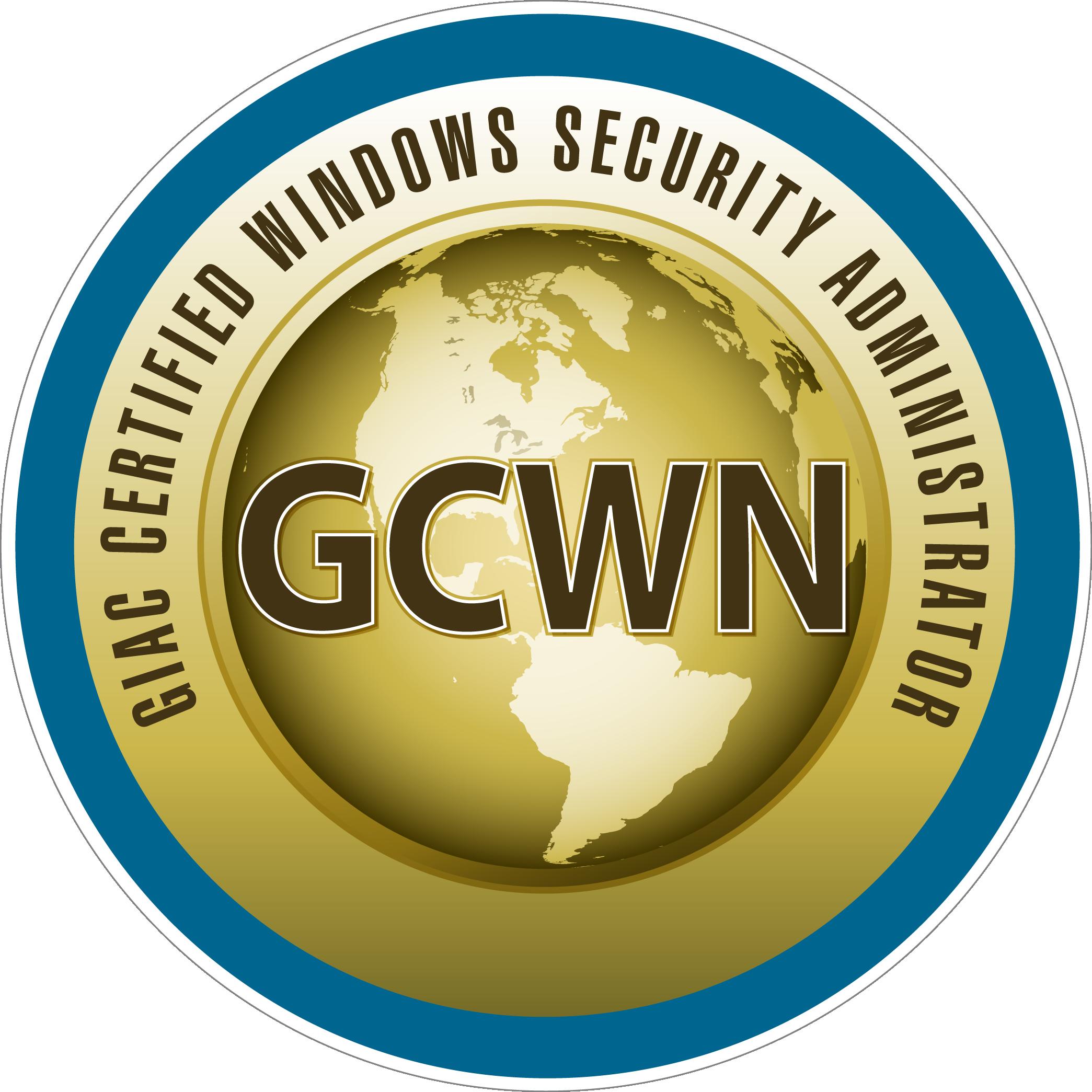 GIAC Certified Windows Security Administrator (GCWN) icon