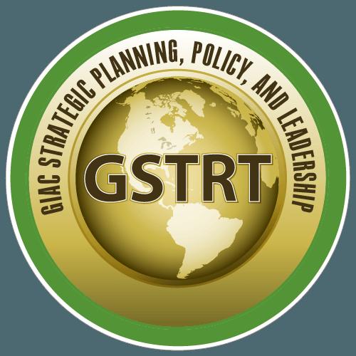 GIAC Strategic Planning, Policy, and Leadership (GSTRT) icon