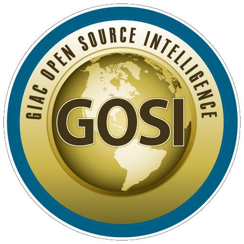 GIAC Open Source Intelligence (GOSI) icon