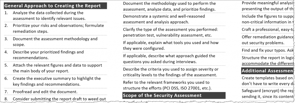 security-assessment-report-cheat-sheet