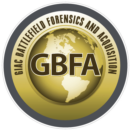 GIAC Battlefield Forensics and Acquisition (GBFA) icon