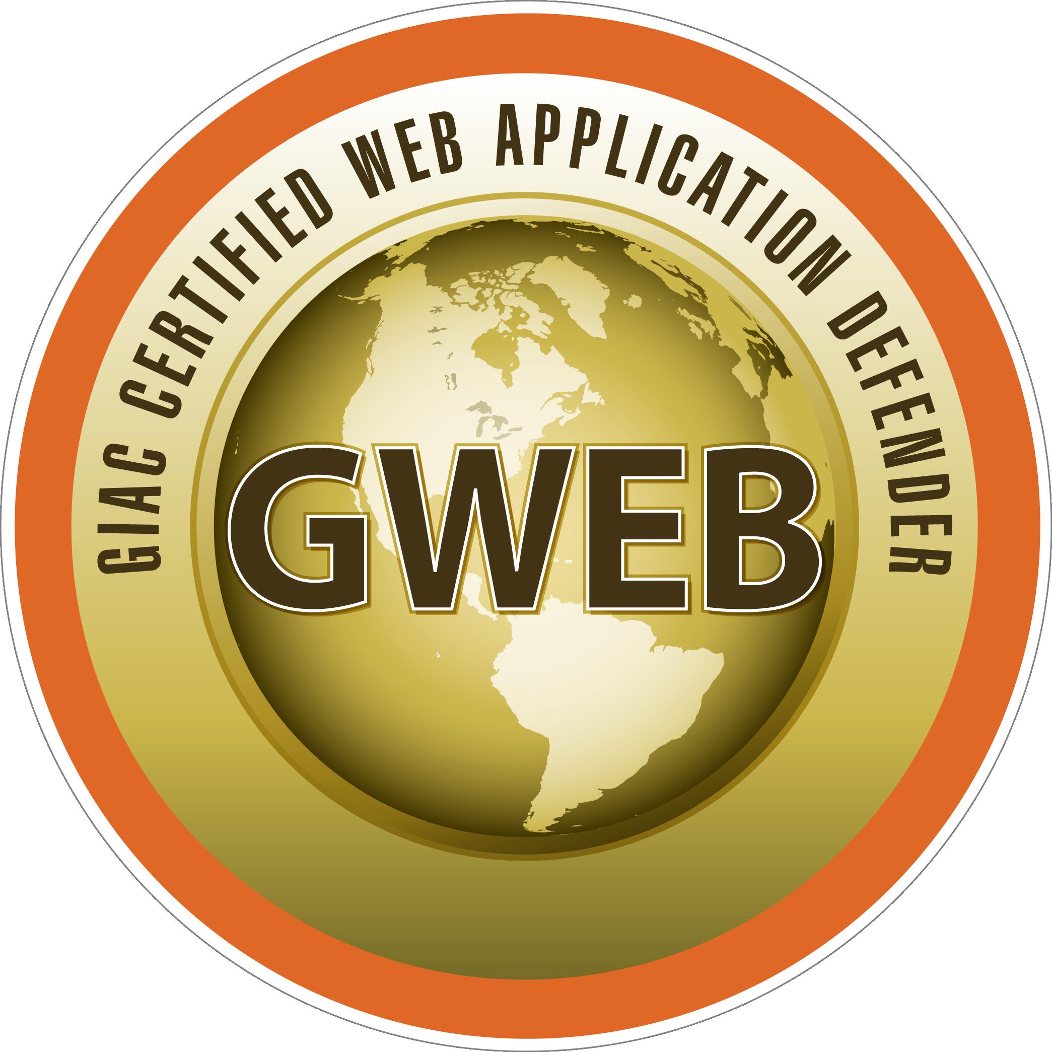 GIAC Certified Web Application Defender (GWEB) icon