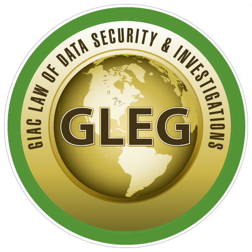 GIAC Law of Data Security & Investigations (GLEG) icon