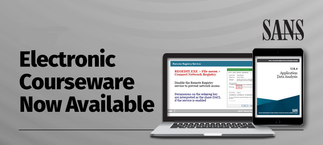 SANS Electronic Courseware Now Available