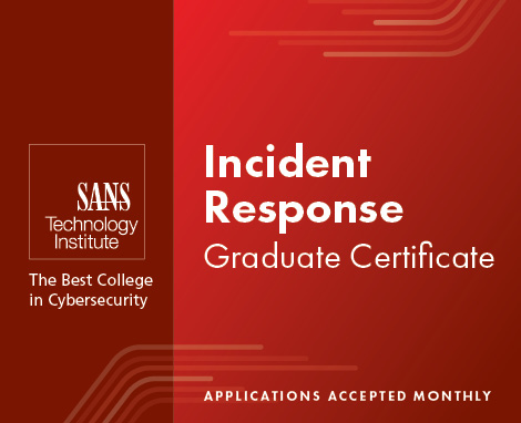 incident Response Graduate Certificate