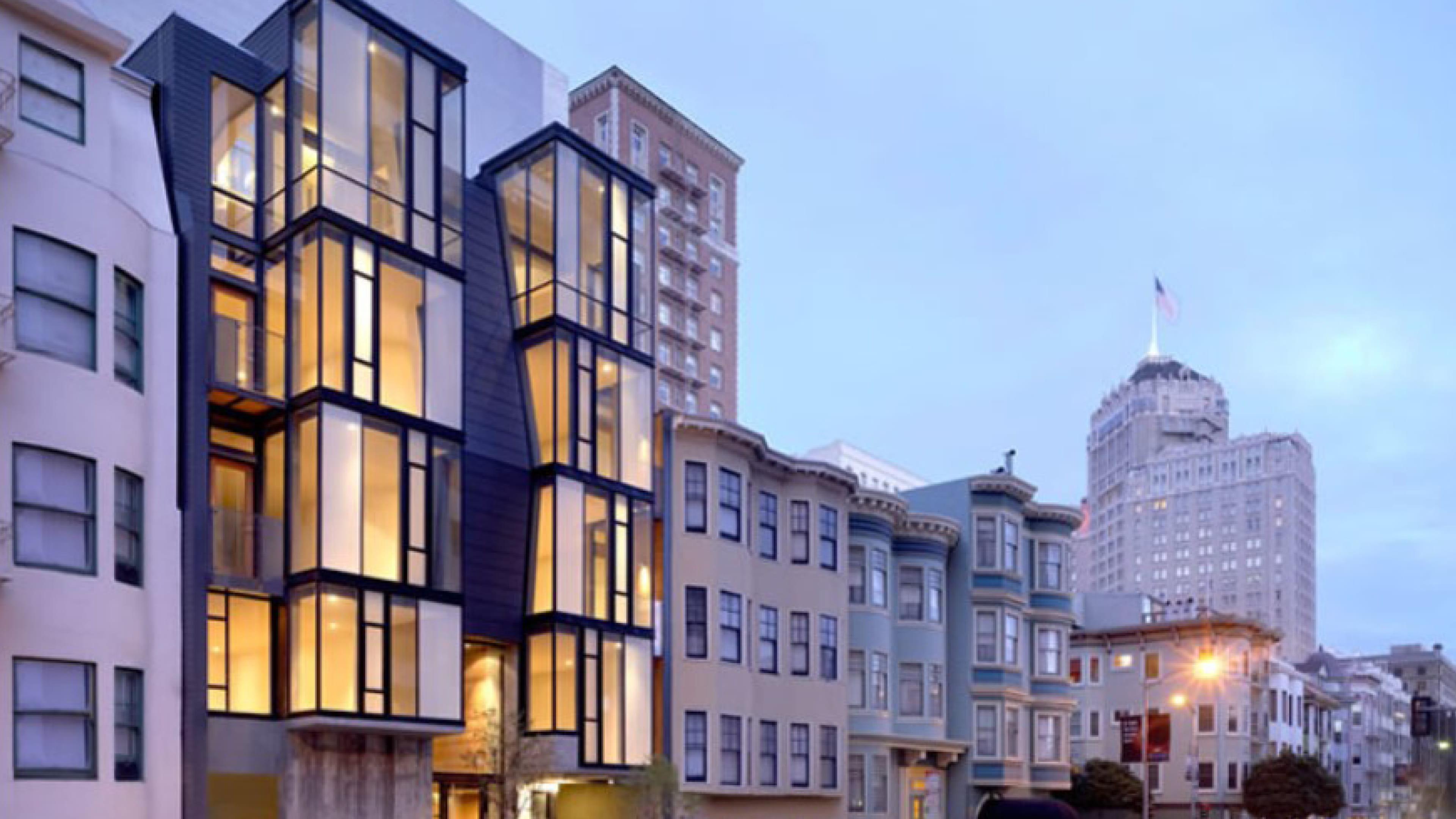 san francisco street view pine street custom aluminum windows