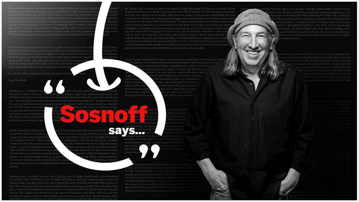 Sosnoff Says hero image