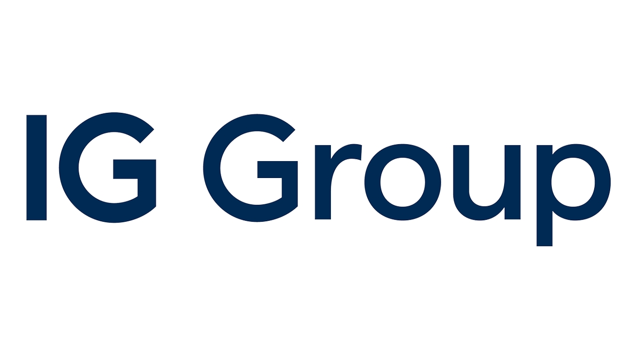 Logo for IG Group, a world leader in online derivatives trading