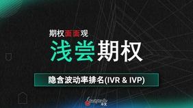 IV Rank and IV Percentile 隐含波动率排名(IVR&IVP)