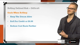 Why Rolling Defined Risk For A Credit Is Difficult
