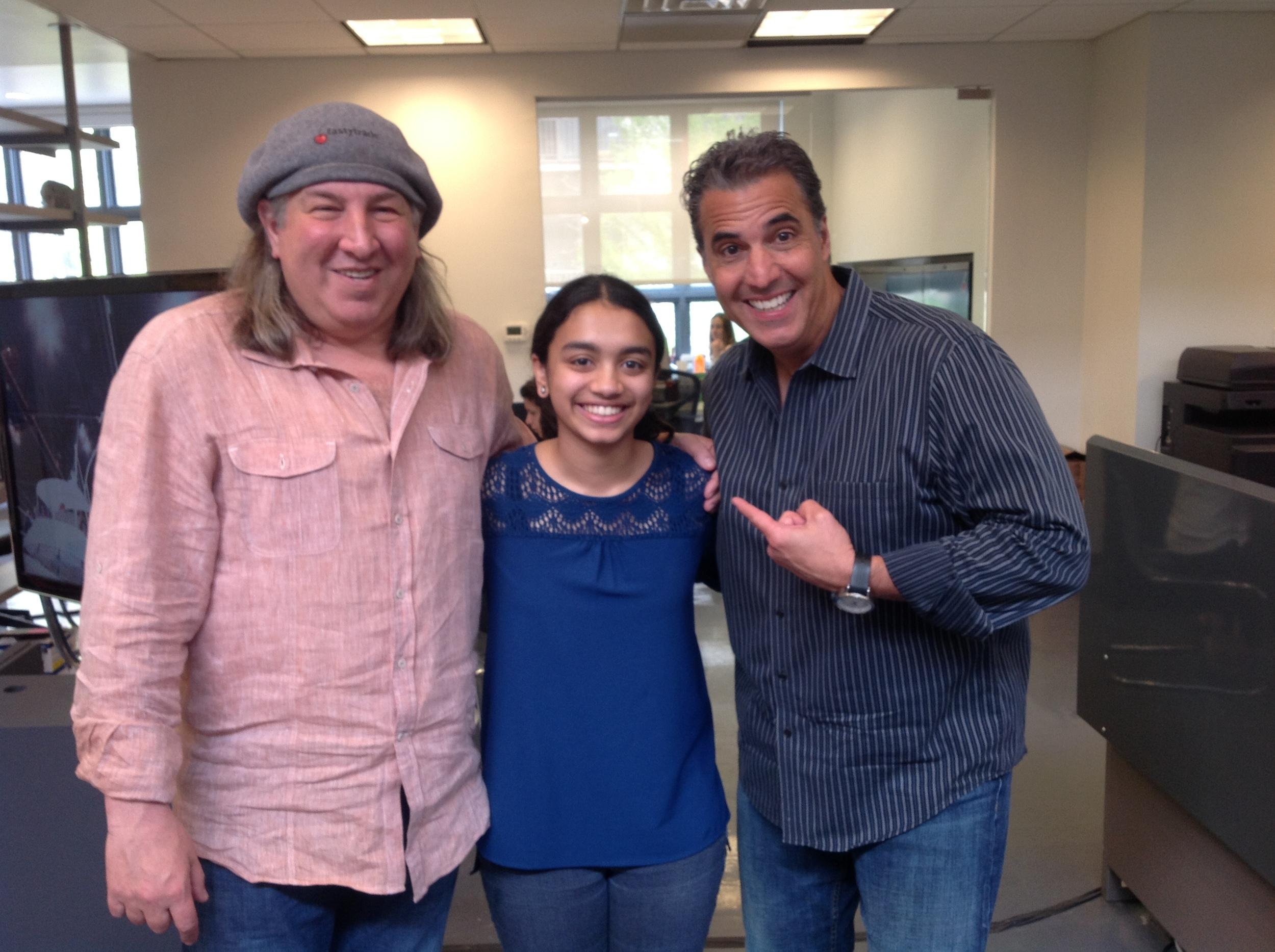 Vic's daughter Nisha, with co-founder of tastytrade Tom Sosnoff and veteran options trader Tony Battista.