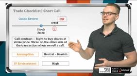 Trade Checklist   Short Call