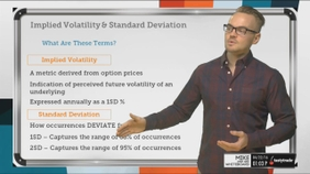 Implied Volatility & Standard Deviation Relationship