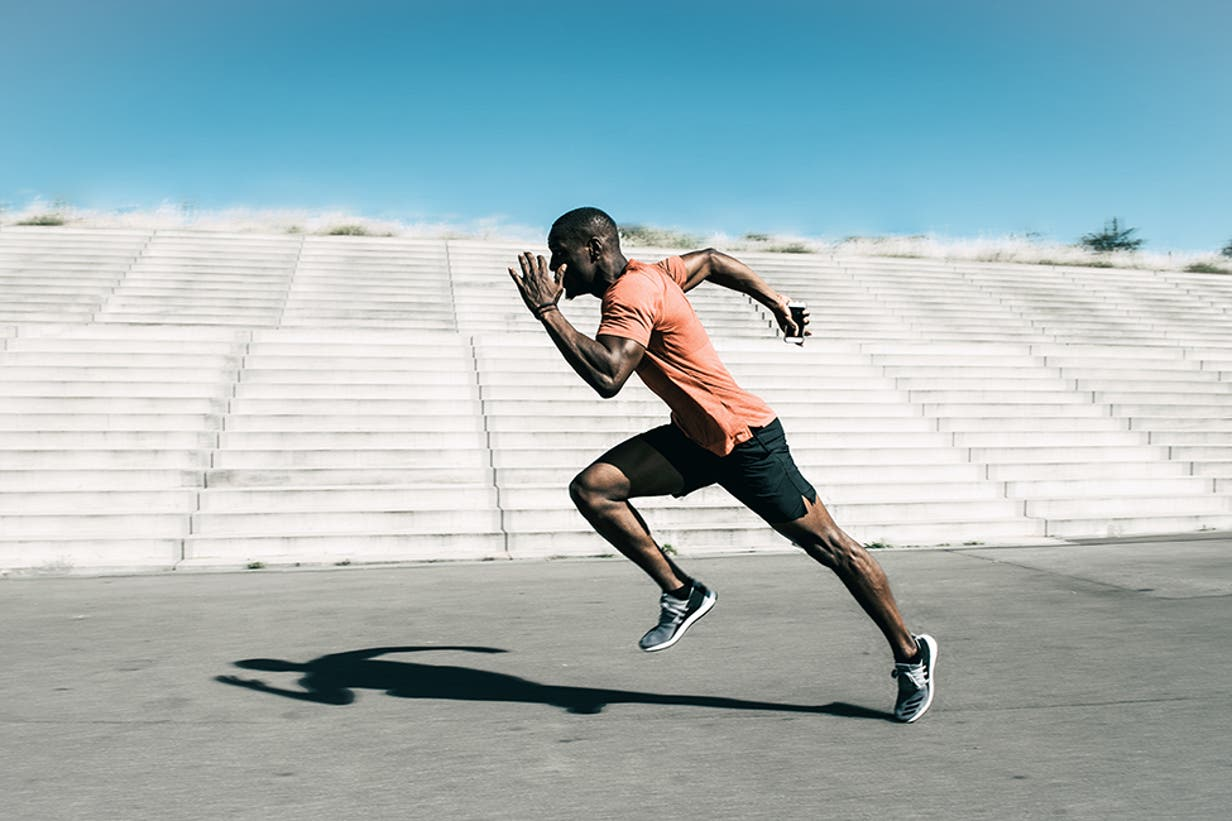 sprinting male