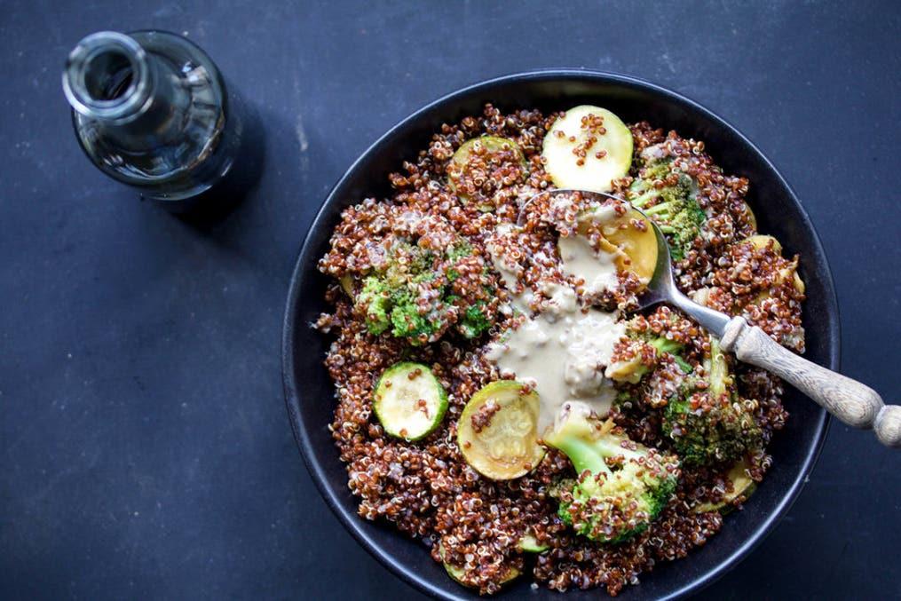 quinoawith sauteed veggies