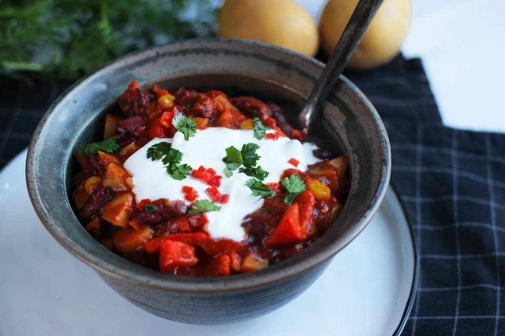Cut Veggie Chilli