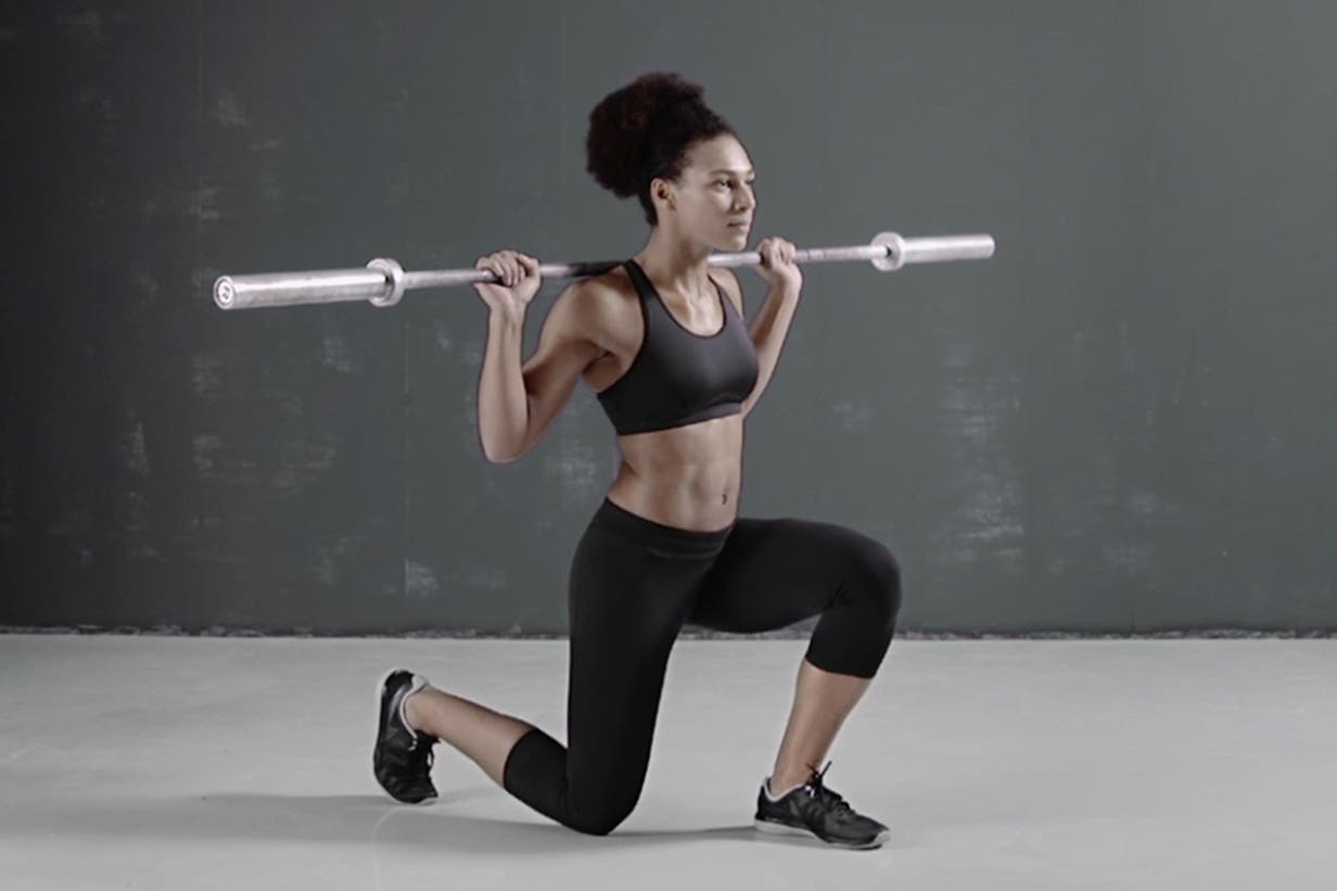 Weighted lunges exercises