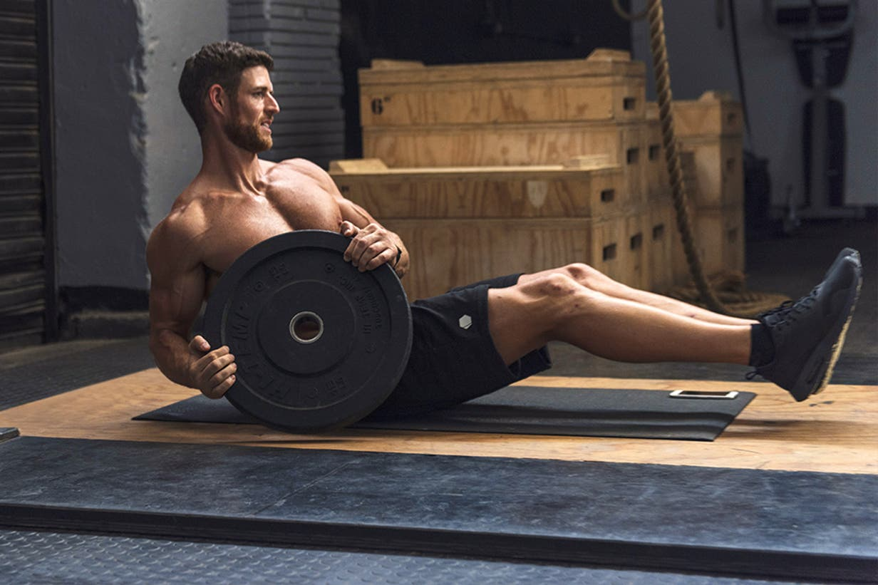 high intensity workout with weights