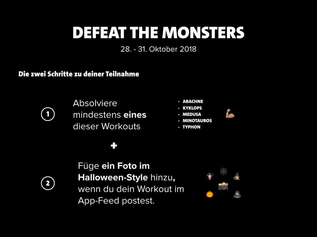 defeat the monsters DE