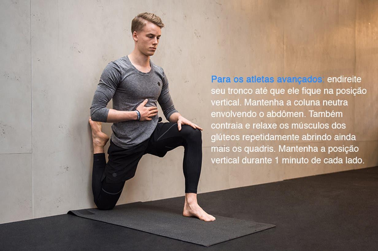 Das costas quadril e mobilidade de exercícios