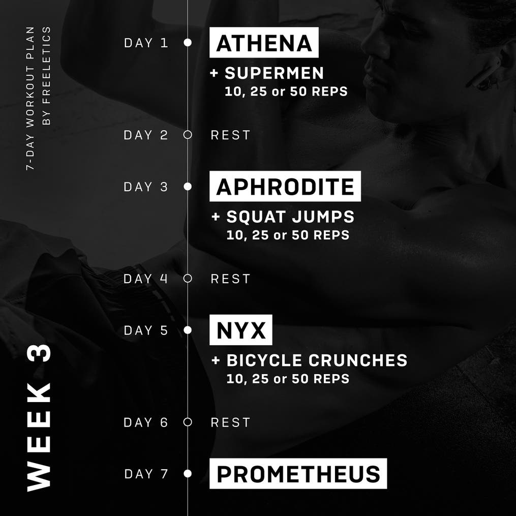 7-Day Workout plan - Week 3