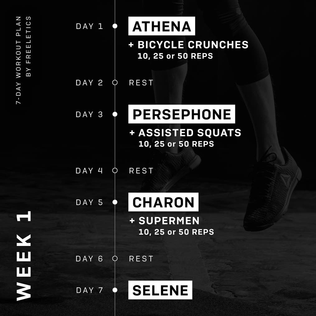 7-Day Workout plan - Week 1