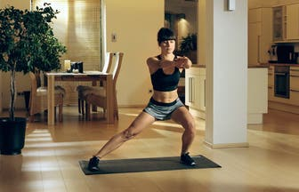 Plane ein Montagmorgen Workout