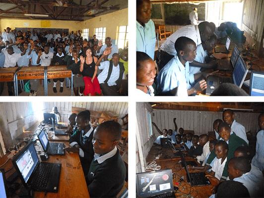 Ellie Mae donates computers in Kenya