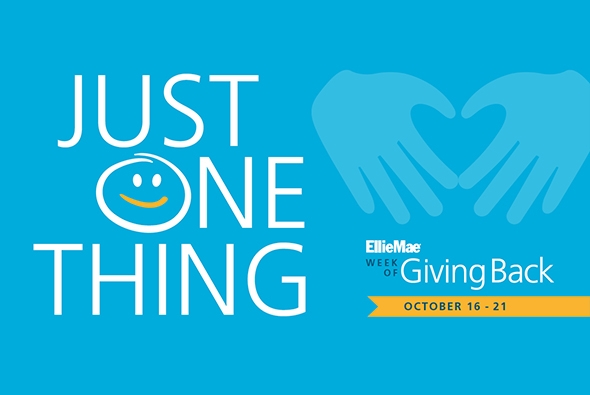 Just One Thing: Ellie Mae Week of Giving Back