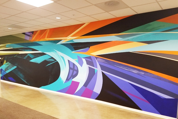 Innovation Center Expansion Adds New Commissioned Murals