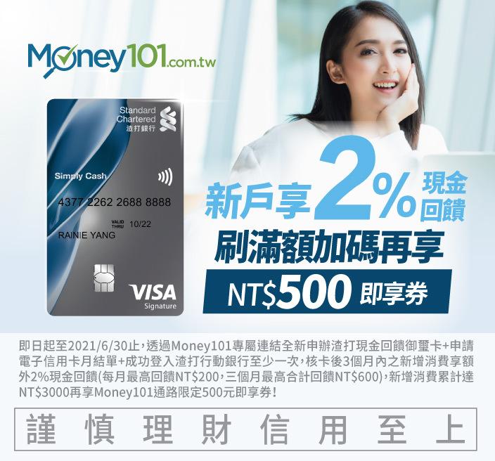 渣打銀行 現金回饋御璽卡
