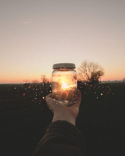 Umfunktioniert: Ein Einmachglas als Solar-Lampe