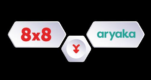 8x8-aryaka-logos