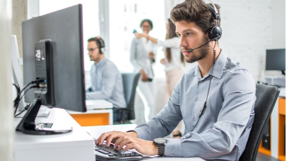 Call Center agent using automatic call distribution (ACD).