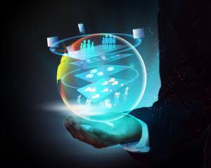 Virtual PBX: Hand with Globe