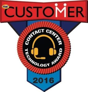 Tenacity receives TMC's 2016 Customer Contact Center Technology Award (PRNewsFoto/Tenacity)