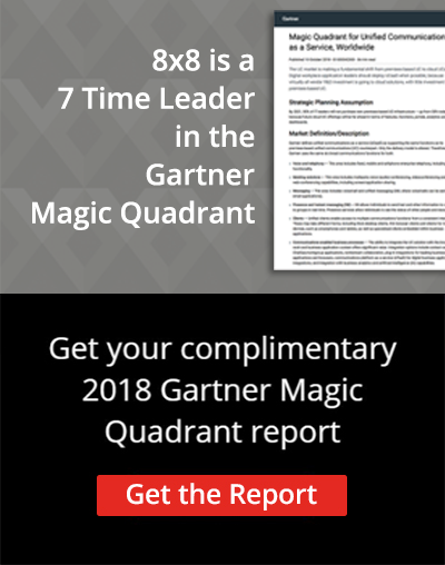 8x8 is a 7 Time Leader in the Gartner Magic Quadrant