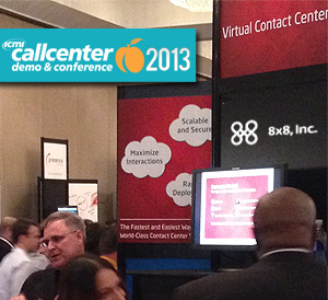8x8 demos call center software at the ICMI Call Center Demo & Conference