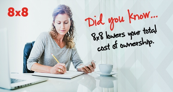 Did you know? - 8x8 lowers total cost of ownership