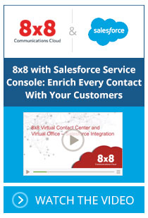 8x8 with Salesforce Service Console: Enrich Every Contact With Your Customers