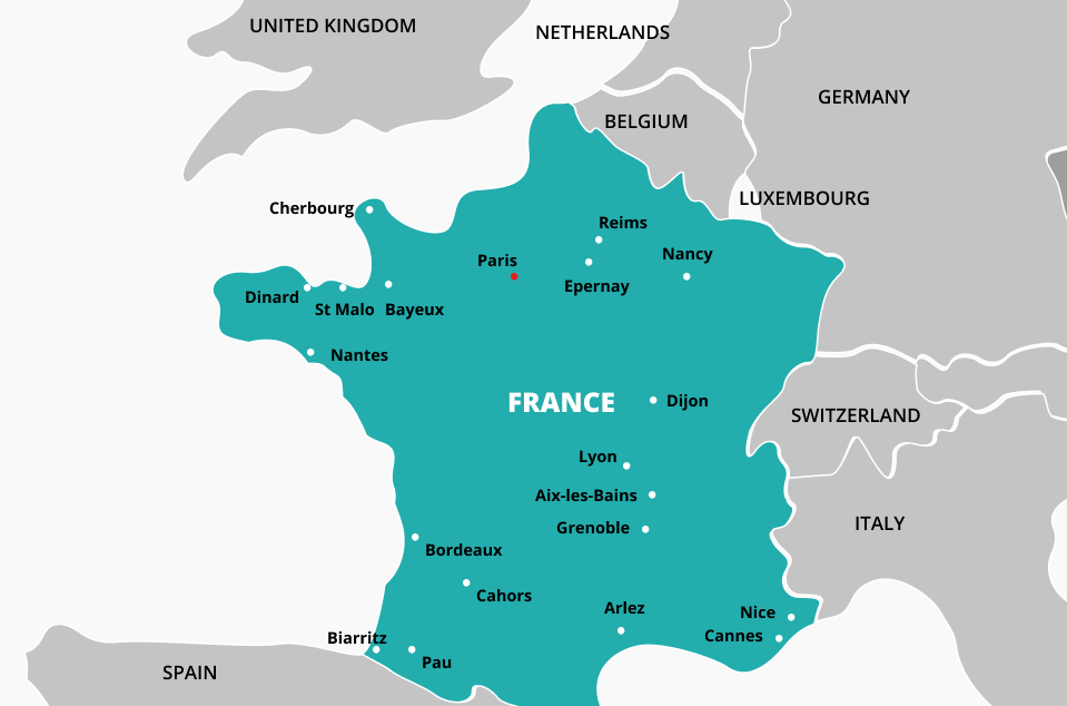 How to call France from the US