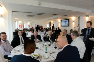 Lunch at launch of 8x8 unified communications services in the UK