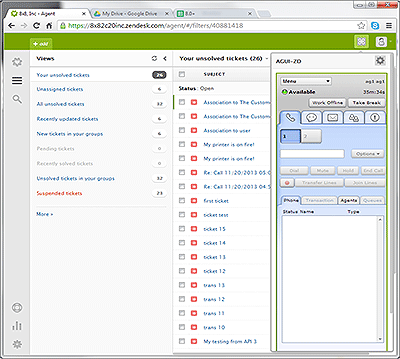 Call Center Software: Zendesk screenshot