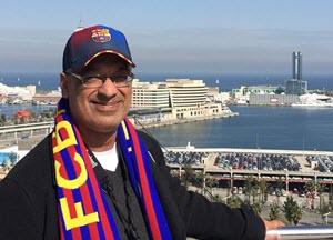 8x8 CEO Vik Verma at Camp Nou