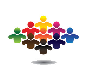 Unified communications: group of employees