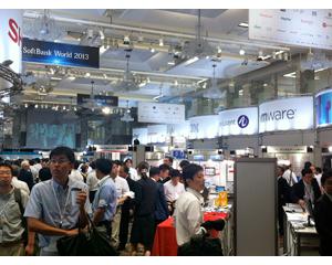 Softbank World show floor, Tokyo 2013