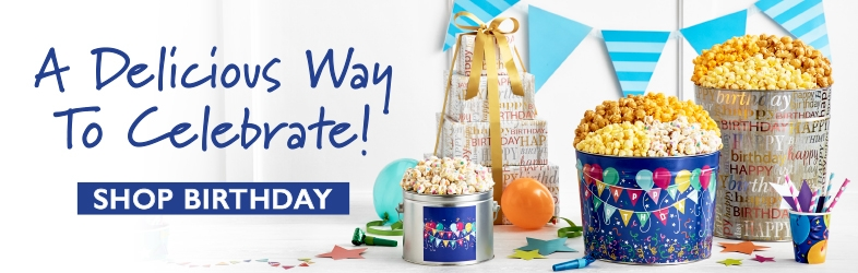 Birthday Popcorn Gifts & Snacks