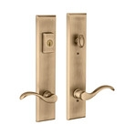 multipoint lock with antique brass finish