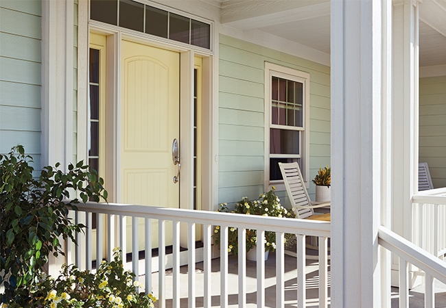 Total Home Refresh - Pella- Plank 2 Panel Arch Entry Door