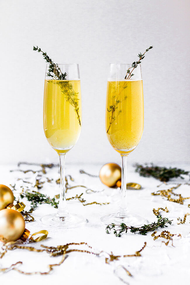 New years eve party party thyme cocktails